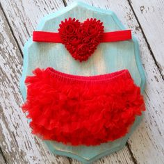 VALENTINES DAY Baby Girl TuTu Bloomers Chiffon by LolaBeanClothing, $18.95. 1st birthday