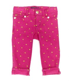 First look at Holiday arrivals - Baby Maya Jean in pink polka dot.