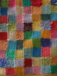 mini weaving - patchwork by ebarbgum, via Flickr