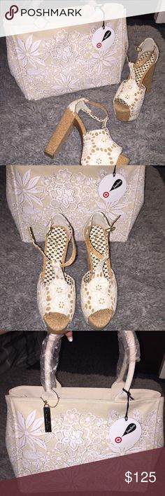 Bag & Shoe Bundle. Both brand new! I bought the two to wear together. The shoes are Jessica Simpson and the bag is Oscar de la Renta a collaboration w/ target. Jessica Simpson Shoes Platforms