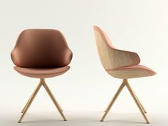 TRESTLE-BASED EASY CHAIR WITH ARMRESTS CIEL! SWEET CIEL! COLLECTION BY TABISSO | DESIGN NOÉ DUCHAUFOUR-LAWRANCE