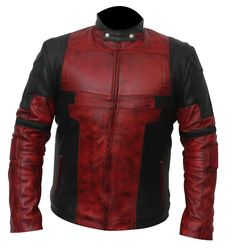 Shop Now!! Deadpool 2 Ryan Reynolds as #WadeWilson Costume Leather Jacket. #stylish #fashion #UKCostume #Deadpool2 #movies