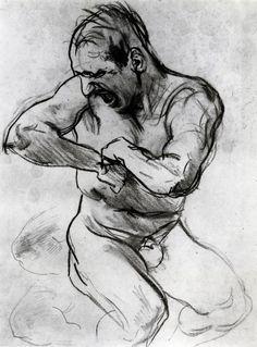 Man Screaming (John Singer Sargent - circa 1895)