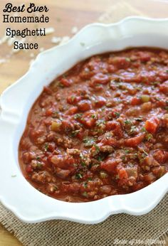 This sauce has a delicious rich flavor, and uses real ingredients. It's better than any jarred sauce you can find at the store, and there is always plenty left over to freeze for another meal or two in the future.