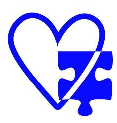 Autism Awareness Vinyl Car Decal - Heart and Puzzle Piece Love Connection Design
