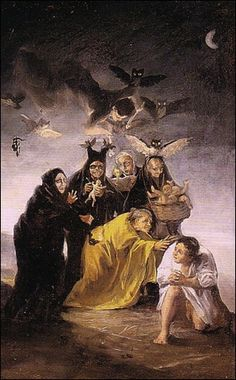 Francisco de Goya, The Witches Sabbath, 1823-24.