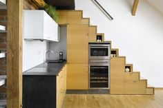 How to Create Staircase Storage: Staircase Storage: An Under the Stairs Kitchen