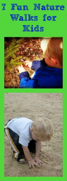 {7 Great Nature Walks for Kids} Fun ideas for getting kids outside while studying science, sensory or nature units.
