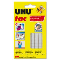 UHU tac — for sticking stuff on walls and windows