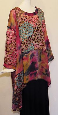Artemisia Taos, Sterling, tunic, wearable art, one of a kind .oh I sooo want this Look Fashion, Womens Fashion, Fashion Design, Fashion Details, Latest Fashion, Fashion Trends, Blouses Roses, Estilo Hippie, Mode Inspiration