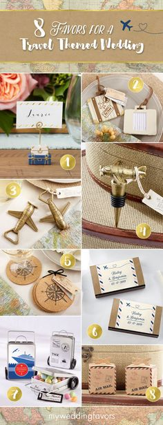 Travel themed wedding giveaways 2018