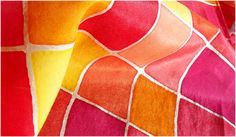 Silk painting tutorials by textile artist Deborah Schlegel at