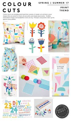 // Print Trend: Colour Cuts (Emily Kiddy) Source by nautsandcrosses