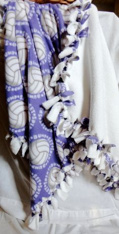 Child+and+adolescent+purple+Volleyball+blanket+by+Tideupinknots,+$22.00