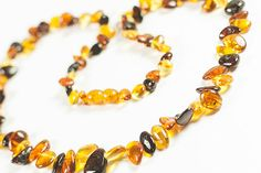 Luxury Baltic amber necklace.Polished amber by LuxuryBalticAmber, $13.74