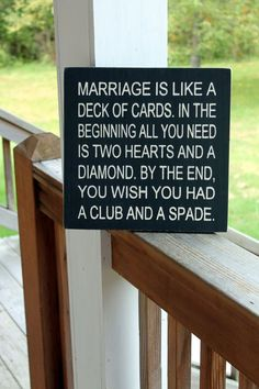 the one where I act like a marriage expert.