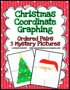 Geometry quadrilateral christmas card project mosaics math and christmas math centers and christmas coordinate graph mystery pictures fandeluxe Gallery