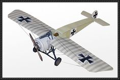 WWI Fighter Fokker E.III Free Aircraft Paper Model Download