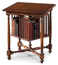 antique English revolving book table or book mill/book carousel . other examples on Furniture board Furniture Styles, Wood Furniture, Antique Furniture, Revolving Bookcase, Book Table, Home Libraries, Up House, Home Office Decor, Home Decor