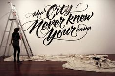 i would absolutely love to paint some beautiful type like this in our future home! uh can't wait...