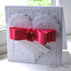 IC333 Pink Bow Wedding by Arizona Maine - Cards and Paper Crafts at Splitcoaststampers
