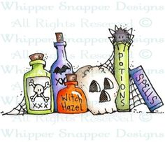 Halloween Grocery List - Halloween Images - Halloween - Rubber Stamps - Shop