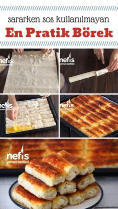 kolaj foto Pie Recipes, Snack Recipes, Cooking Recipes, Pizza Pastry, Iftar, Turkish Recipes, Snacks, Food For A Crowd, Food Dishes