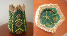 Vaso origami 3d