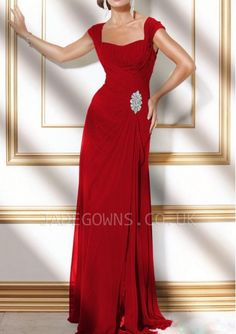 Red Square Prom Dresses With Crystals - 6101967 - Long Prom Dresses