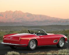 Visit The MACHINE Shop Café... ❤ Best of Ferrari @ MACHINE ❤ (Ferrari Red 250 GT Roadster)