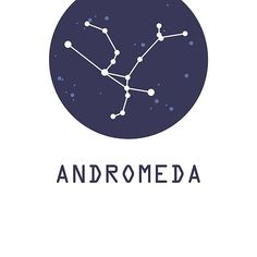 'Andromeda Constellation' by aglomeradesign – Constellation Tattoo Andromeda Constellation, Constellation Tattoos, Minimal Logo Design, Jewelry Logo, Star Tattoos, Arm Tattoo, Woodworking, Stars, Night