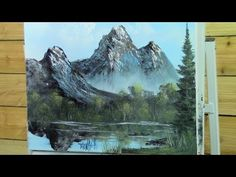 Mirror Mountain Painting With Magic wet on wet oil painting full show season 3 ep 3 Rose Oil Painting, Oil Painting Gallery, The Joy Of Painting, Acrylic Painting Lessons, Painting Videos, Acrylic Art, Mountain Paintings, Mountain Mural, Mountain Pass