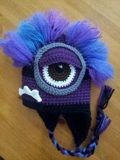 #4 of five in my Crochet Chullo Despicable Me Series. Evil Minion!