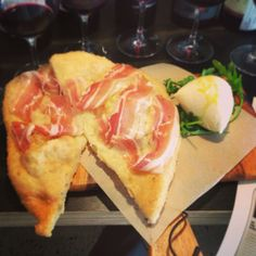 One of our most popular dishes, Pizza Fritta (Fried Pizza with Local Speck and Burrata) #ZaZa's