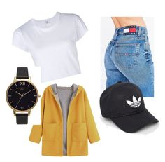 """Spring ⚡️"" by noemie-coutadeur on Polyvore featuring mode, Tommy Hilfiger, RE/DONE, adidas et Olivia Burton"