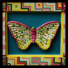 Mariposa en acrílico y decoupage $18.000