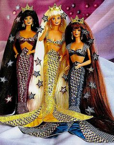 Jewel Hair Mermaid Barbie... I totally had the one in the middle!!!