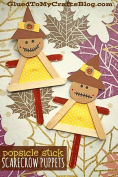 Diy fall crafts 164874036345868341 - Popsicle Stick Scarecrow Puppets – Kid Craft – Fall Art Project Idea Source by stacey_gibbon Fall Crafts For Toddlers, Crafts For Teens To Make, Thanksgiving Crafts For Kids, Winter Crafts For Kids, Halloween Crafts For Kids, Toddler Crafts, Kids Diy, Halloween Halloween, Vintage Halloween