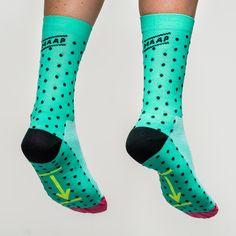 Dot Sock Aqua/Black