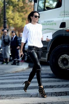 leather legs. Milan.