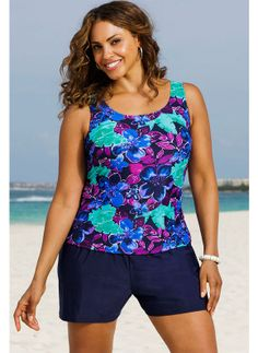 Scoop neckline provides moderate coverage. #spandex #coupons #swimwear