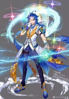 Anime Demon Boy, Anime Warrior, Anime Angel, Anime Guys, Blue Hair Anime Boy, Blue Anime, Anime Art Girl, Manhwa Manga, Manga Anime