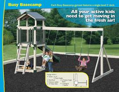 Customize Your Outdoor Swing Set :Swing Sets For Kids Kids Playset Outdoor, Kids Outdoor Play, Backyard Play, Outdoor Playground, Swing Sets For Kids, Kids Swing, Outdoor Swing Sets, Adventure World, Home