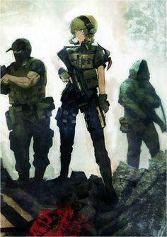 """horses-in-the-sky: """"Official art by Huke for Steins;Gate Soldier Suzuha is the…"""