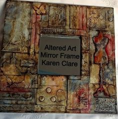 Altered Art Ikea Mirrors - Sample One - Workshop 26th January