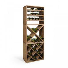 Weinregal-System 50 cm, Holz in tobaccogebeizt - Ansicht 2