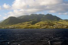 Mount Liamuiga towers over St. Kitts.