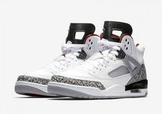 best service 5b602 531bb Nike Air Jordan SPIZIKE WHITE CEMENT GREY UK 7.5 SOLD OUT ORIGINAL BNIB V  RARE!