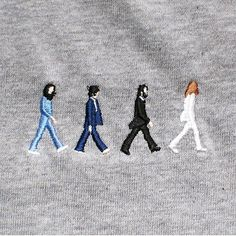 embroidered beatles