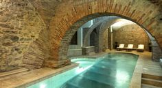 Sina Brufani Perugia Take a dip in the indoor swimming pool with glass floor, revealing Etruscan ruins. Just one of the luxuries you will enjoy at Hotel Brufani Palace. Brufani Palace is one of the most prestigious hotels in Perugia.